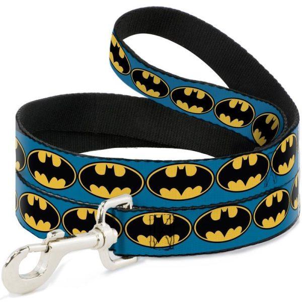 Buckle-Down Batman Bat Signal Blue/Yellow/Black Dog Lead (4ft) - Leads - Xtra Dog