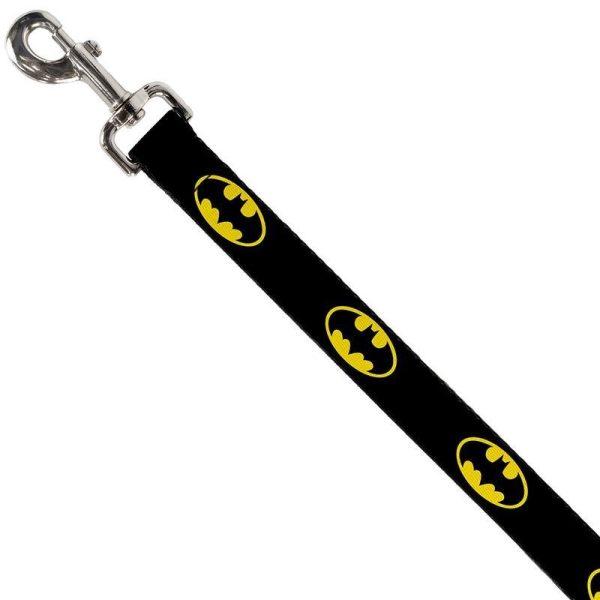 Buckle-Down Batman Bat Signal Shield Black/Yellow Dog Lead (4ft) - Leads - Xtra Dog