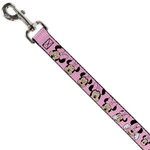 Buckle-Down Minnie Mouse Expressions Pose Dog Lead (4ft)