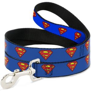 Buckle-Down Superman Blue Shield Dog Lead (4ft)