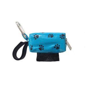 Designer Duffel Poo Bag Dispenser – Blue Paw
