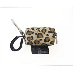 Designer Duffel Poo Bag Dispenser – Cheetah