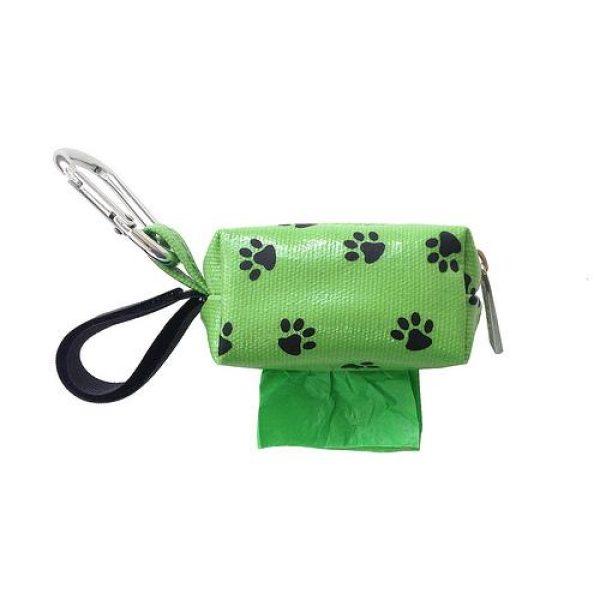 Designer Duffel Poo Bag Dispenser - Green Paw - Poo Bags - Xtra Dog