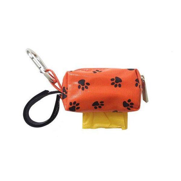 Designer Duffel Poo Bag Dispenser - Orange Paw - Poo Bags - Xtra Dog