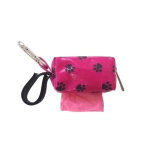 Designer Duffel Poo Bag Dispenser – Pink Paw