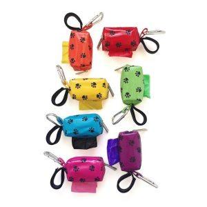 Designer Duffel Poo Bag Dispenser – Purple Paw