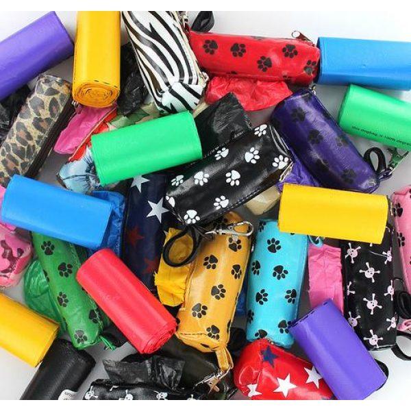 Designer Duffel Poo Bag Dispenser - Purple Paw - Poo Bags - Xtra Dog