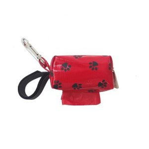 Designer Duffel Poo Bag Dispenser – Red Paw