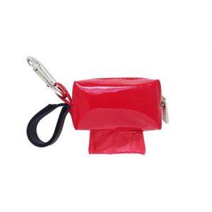 Designer Duffel Poo Bag Dispenser – Red Solid