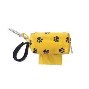 Designer Duffel Poo Bag Dispenser – Yellow Paw