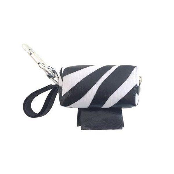 Designer Duffel Poo Bag Dispenser - Zebra - Poo Bags - Xtra Dog