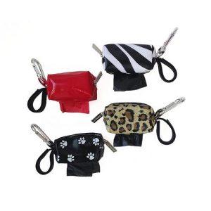 Designer Duffel Poo Bag Dispenser – Zebra