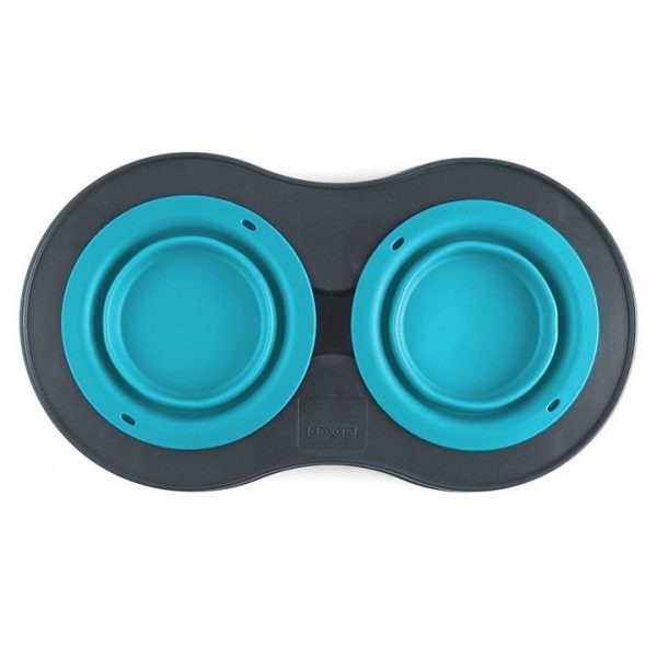 Dexas Popware Double Elevated Feeder - Dog Bowls - Xtra Dog