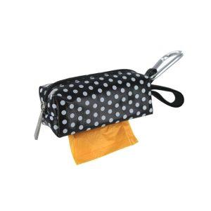 DogBag Colour Block Duffel (Large) Poo Bag Dispenser – Black Dot
