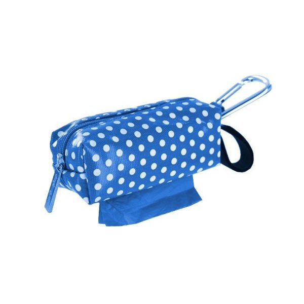DogBag Colour Block Duffel (Large) Poo Bag Dispenser - Blue Dot - Poo Bags - Xtra Dog