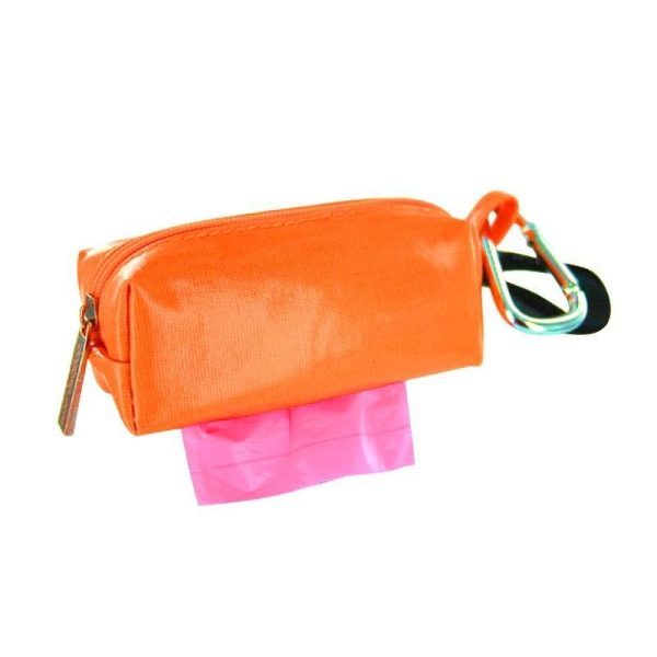 DogBag Colour Block Duffel (Large) Poo Bag Dispenser - Orange - Poo Bags - Xtra Dog