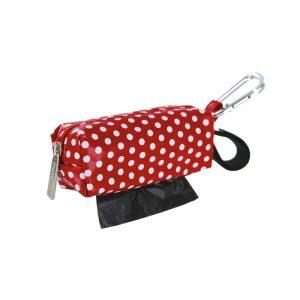 DogBag Colour Block Duffel (Large) Poo Bag Dispenser – Red Dot