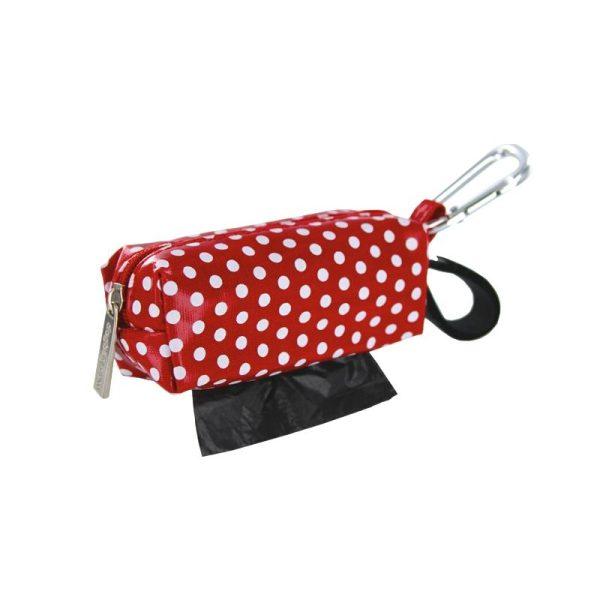 DogBag Colour Block Duffel (Large) Poo Bag Dispenser - Red Dot - Poo Bags - Xtra Dog