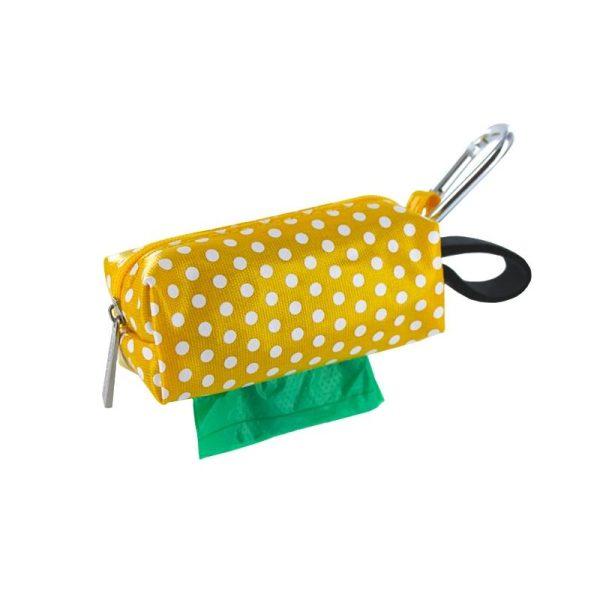 DogBag Colour Block Duffel (Large) Poo Bag Dispenser - Yellow Dot - Poo Bags - Xtra Dog