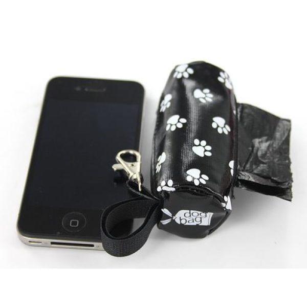 DogBag Duffel Poo Bag Dispenser (Large) - Black Paw - Poo Bags - Xtra Dog