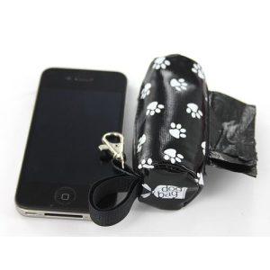DogBag Duffel Poo Bag Dispenser (Large) – Black Paw