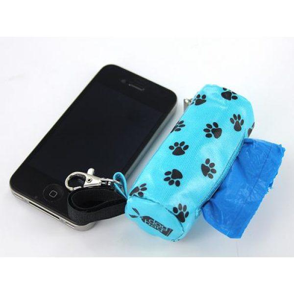 DogBag Duffel Poo Bag Dispenser (Large) - Blue Paw - Poo Bags - Xtra Dog