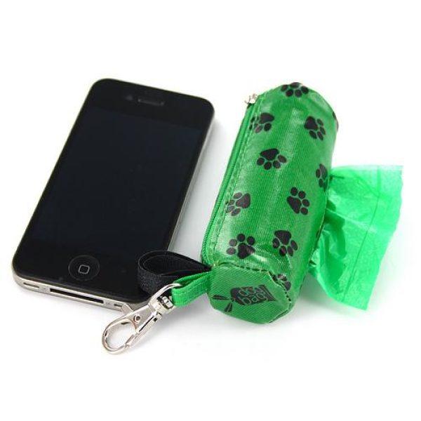 DogBag Duffel Poo Bag Dispenser (Large) - Green Paw - Poo Bags - Xtra Dog