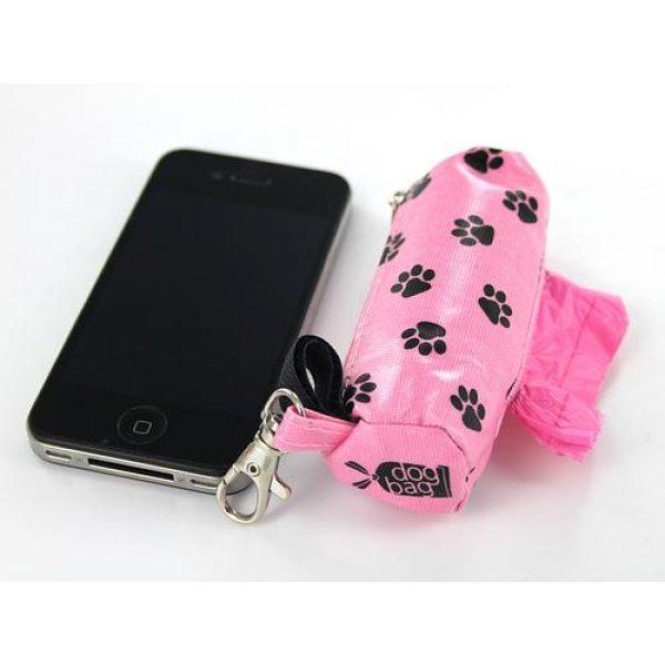 DogBag Duffel Poo Bag Dispenser (Large) - Pink Paw - Poo Bags - Xtra Dog