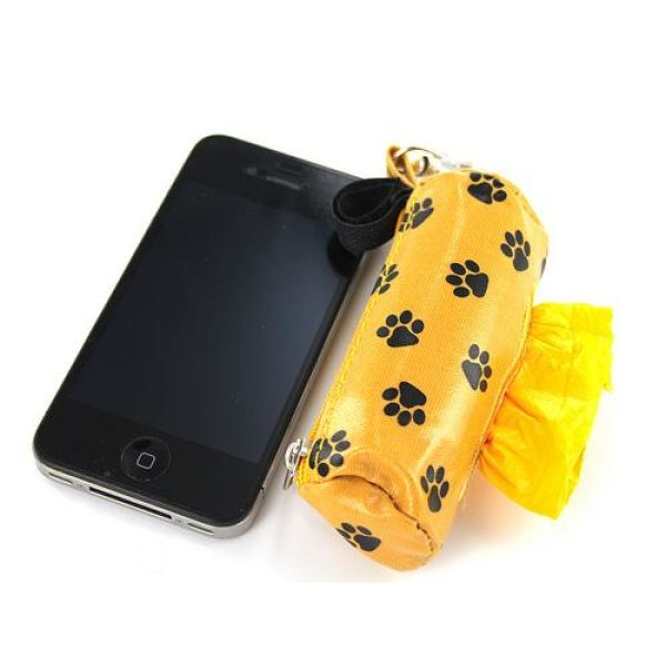 DogBag Duffel Poo Bag Dispenser (Large) - Yellow Paw - Poo Bags - Xtra Dog