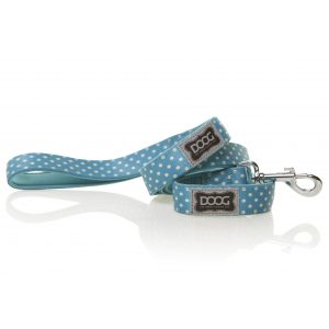DOOG Snoopy Dog Lead Blue and White polkadot