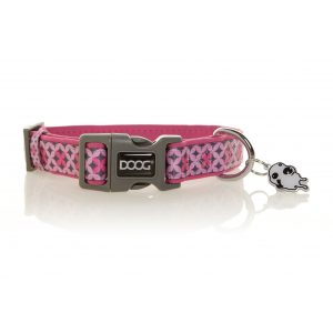 DOOG Toto Dog Collar Pink and Grey