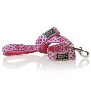 DOOG Toto Dog Lead Pink and Grey