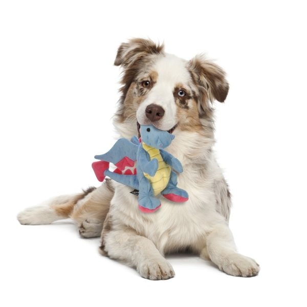 goDog Dragons Periwinkle with Chew Guard Technology - Plush Toys - Xtra Dog