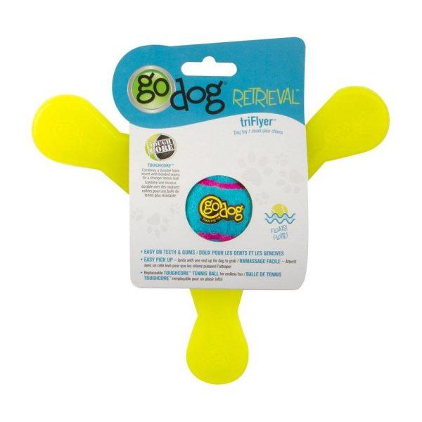 goDog Retrieval TriFlyer - Retrieve Toys - Xtra Dog