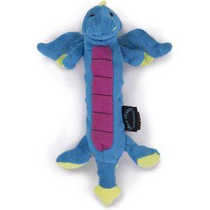 goDog Skinny Dragon Blue with Chew Guard Technology