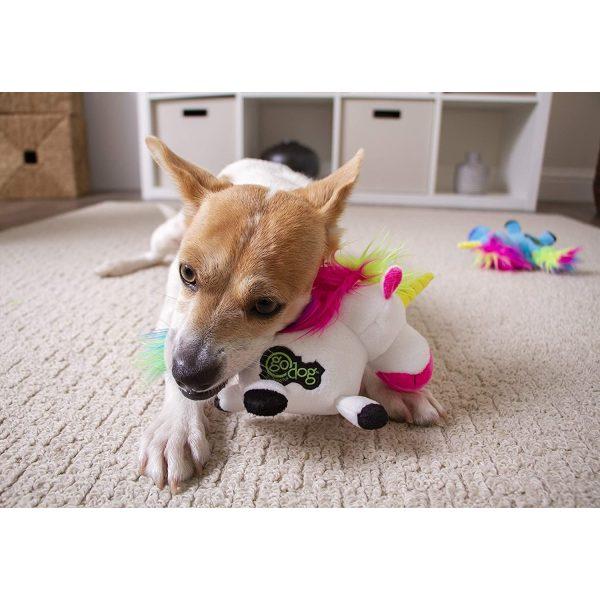 goDog Unicorns with Chew Guard Technology Tough Plush Dog Toy - Plush Toys - Xtra Dog