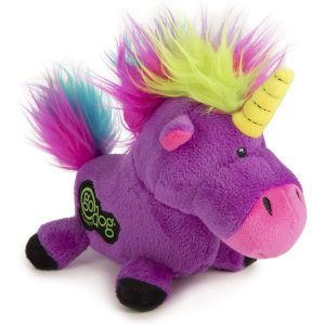 goDog Unicorns with Chew Guard Technology Tough Plush Dog Toy