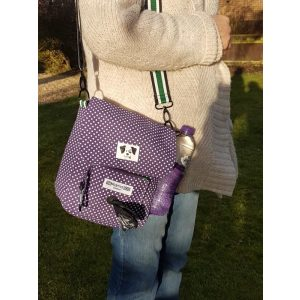 Positive Dog Company Dog Walking Bag Purple Polkadot