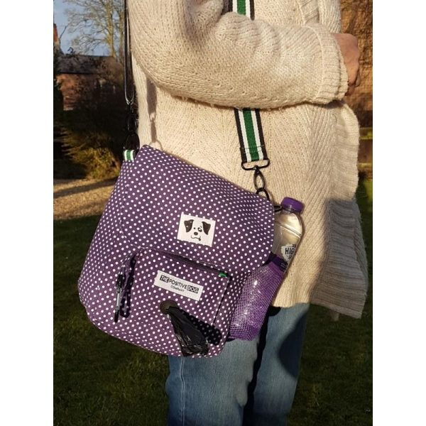Positive Dog Company Dog Walking Bag Purple Polkadot - Walking Bag - Xtra Dog