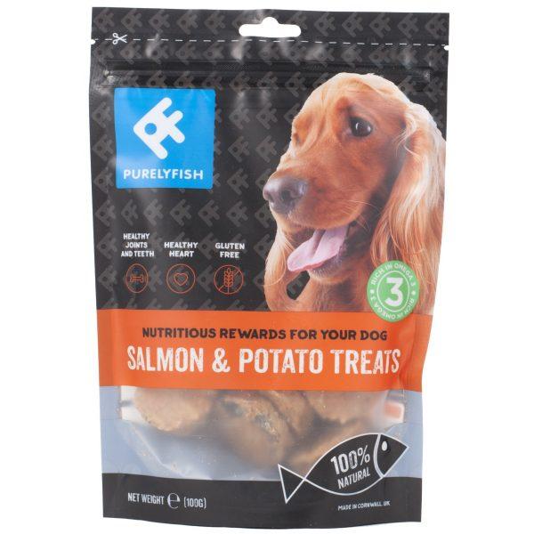 Purely Fish - Salmon and Potato Treats 100g - Treats - Xtra Dog