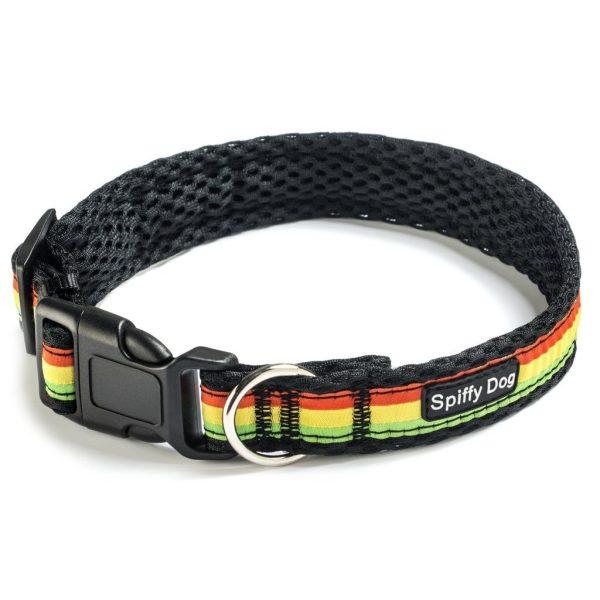 Spiffy Dog, Black Rasta Collar - Collars - Xtra Dog