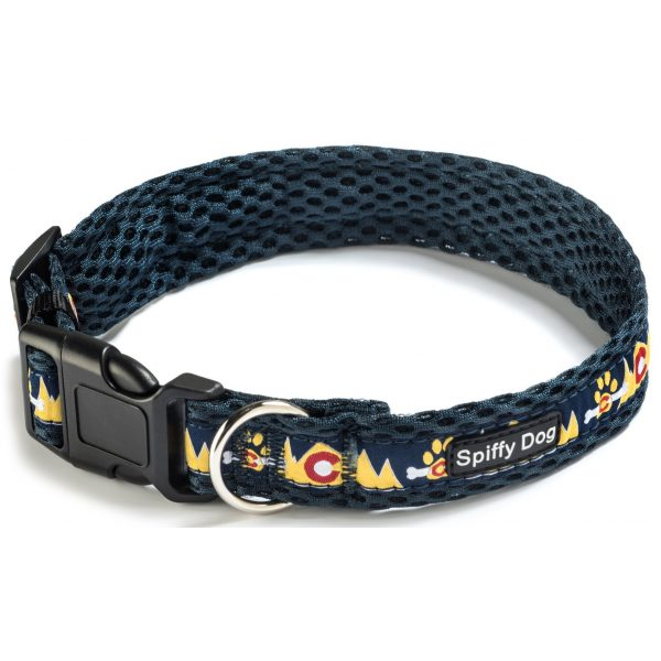 Spiffy Dog, Navy Mountains Collar - Collars - Xtra Dog