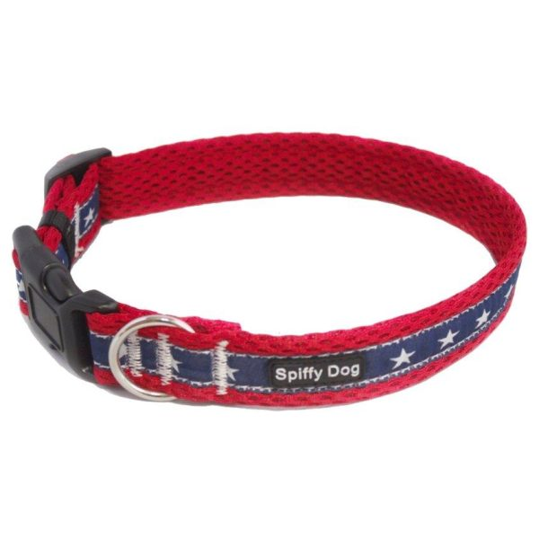 Spiffy Dog, Red Stars Collar - Collars - Xtra Dog