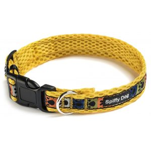 Spiffy Dog, Yellow Paws Collar