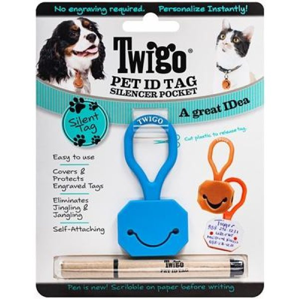 Twigo Pet ID silencer blue - Pet Tag - Xtra Dog