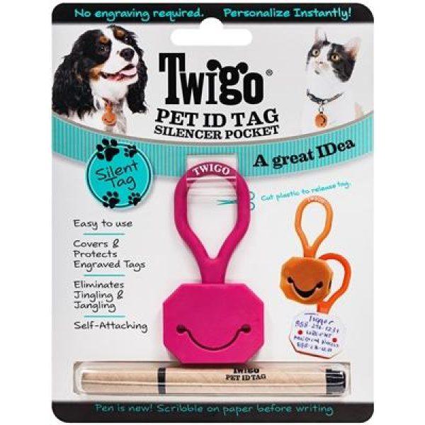 Twigo Pet ID silencer Pink - Pet Tag - Xtra Dog