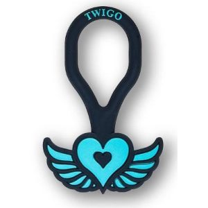 Twigo Pet ID tag -Free Spirit Teal
